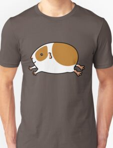 Smooth Leaping Guinea-pig ... Brown and White T-Shirt