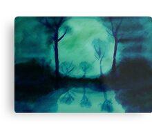 The Moons glow, watercolor Metal Print