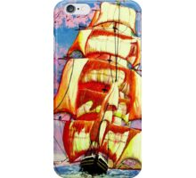 Golden Clipper in Full Sail iPhone Case iPhone Case/Skin