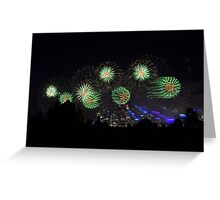 Fireworks, matrix style Greeting Card