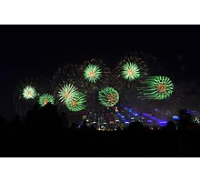 Fireworks, matrix style Photographic Print