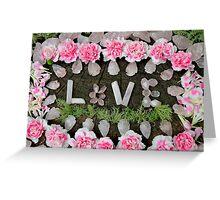 LOVE in ROSE QUARTZ Greeting Card