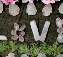 LOVE in ROSE QUARTZ Sticker