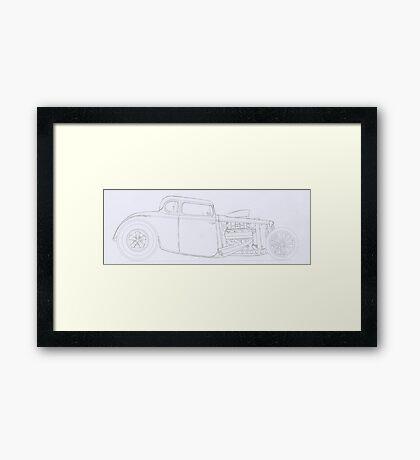 Drag Rod Framed Print