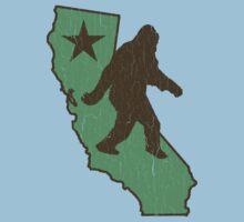 California Bigfoot (vintage distressed look) One Piece - Short Sleeve