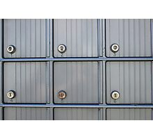 Post Office Boxes Photographic Print