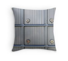 Post Office Boxes Throw Pillow