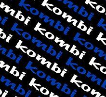 Black Blue & White VW Kombi iPhone Case by melodyart