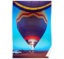 Up up and away - hot air balloon Poster