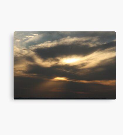 last light, dark night Canvas Print