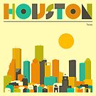 HOUSTON SKYLINE by JazzberryBlue