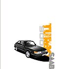Saab 900 Turbo illustrated iPhone Case by Autographics