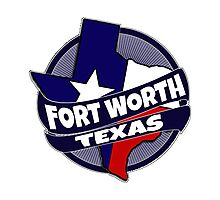 Fort Worth Texas flag burst Photographic Print