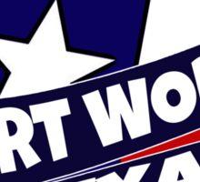 Fort Worth Texas flag burst Sticker