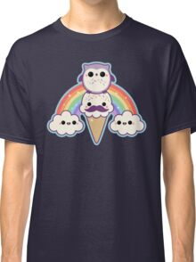 Owl Cream Cone with Rainbow Classic T-Shirt