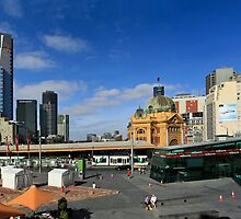 FEDERATION SQUARE, MELBOURNE PANORAMA by Russell Charters