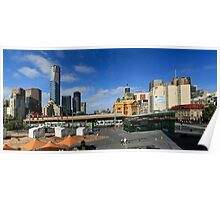 FEDERATION SQUARE, MELBOURNE PANORAMA Poster