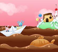 Pao & Tao: Chocolate sea by Sangitchi