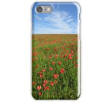 Wild poppies on mid-Hampshire downs for iPhone iPhone Case/Skin