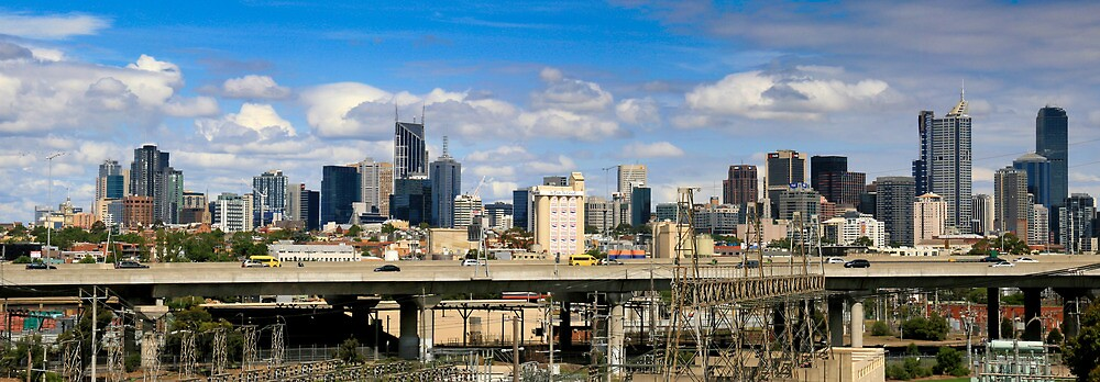 CITYLINK MELBOURNE PANORAMA by Russell Charters