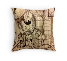 Of Mice And Moon Throw Pillow