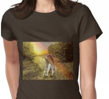 Evening Walk Womens Fitted T-Shirt