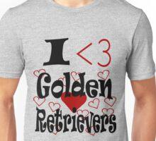 I <3 Golden Retrievers Unisex T-Shirt