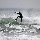 Surfer at Newquay by moonhare