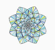 Stained Glass Style Blue Mandala Unisex T-Shirt