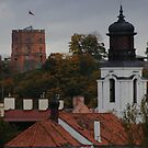 Castle tower is symbol of Capital city. My city  by Antanas