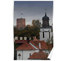 Castle tower is symbol of Capital city. My city  Poster