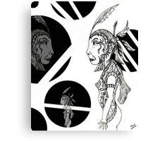 Pen Drawing Monotone image Canvas Print