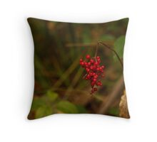Wild Berries in Forest Throw Pillow