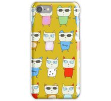The Meow Cat Family - Yellow iPhone Case/Skin