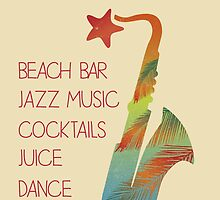 Beach bar jazz poster by Vinchenko