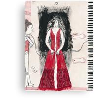 Self-Portrait as a Pianist Canvas Print