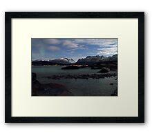 Mountains in moonlight Framed Print