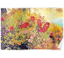 Colorful Flower Basket  Poster