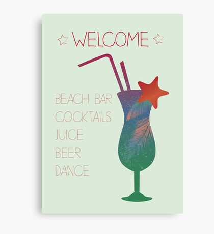 Welcome beach bar Canvas Print