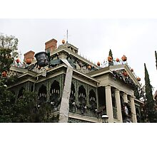 Haunted Mansion Nightmare Before Christmas Photographic Print