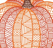 Patterned Pumpkin Sticker