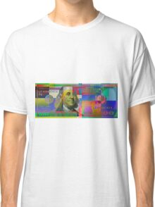 Pop-Art Colorized One Hundred US Dollar Bill Classic T-Shirt