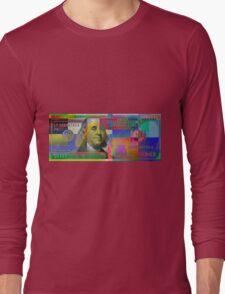 Pop-Art Colorized One Hundred US Dollar Bill Long Sleeve T-Shirt
