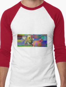 Pop-Art Colorized One Hundred US Dollar Bill Men's Baseball ¾ T-Shirt