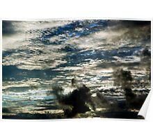 Bellmont Hills Sunset Cloudscape   Poster