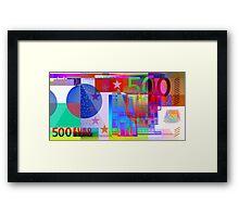 Pop-Art Colorized Five Hundred Euro Bill Framed Print