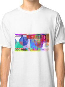 Pop-Art Colorized Five Hundred Euro Bill Classic T-Shirt