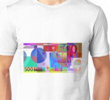 Pop-Art Colorized Five Hundred Euro Bill Unisex T-Shirt