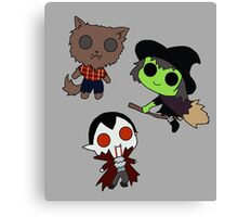 Adorable Monsters Canvas Print