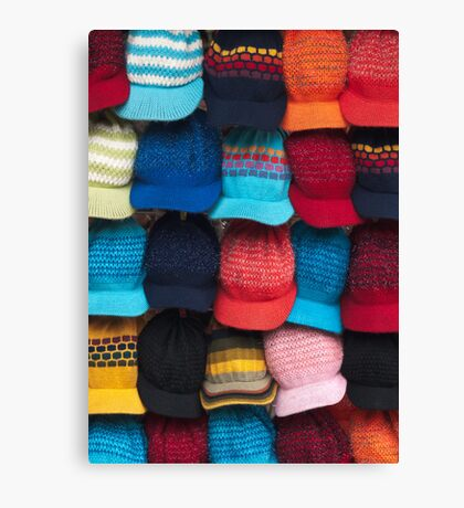 Knit caps Canvas Print